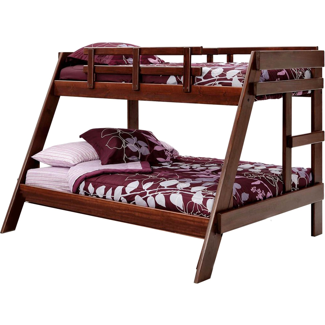 Chelsea home furniture twin over full a frame bunk dark for Hometown furniture exchange