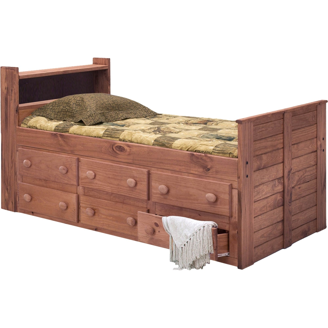 Chelsea Home Furniture Twin Bookcase Captain Bed With 6 Drawers Bedroom Furniture Home