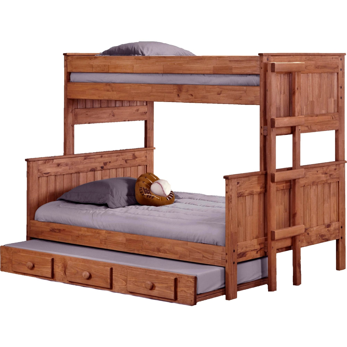 Chelsea Home Furniture Twin Over Full Stackable Bunk Bed With Trundle Juvenile Beds Shop The