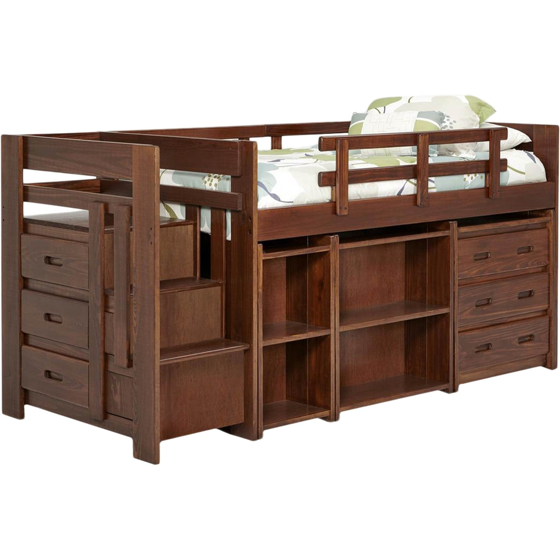 Chelsea twin mini loft bed with storage bedroom for Hometown furniture exchange