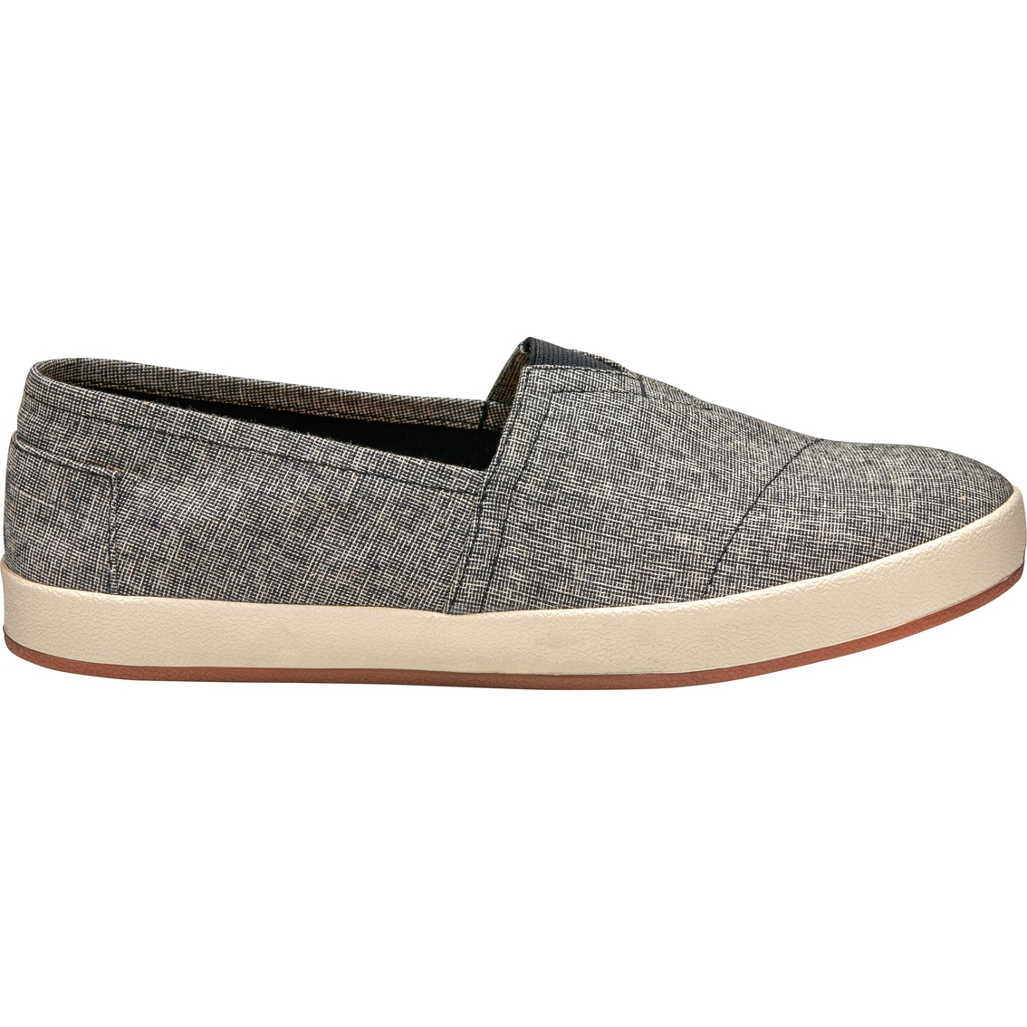 TOMS Black and White Texture Woven Avalon Slip On Shoes