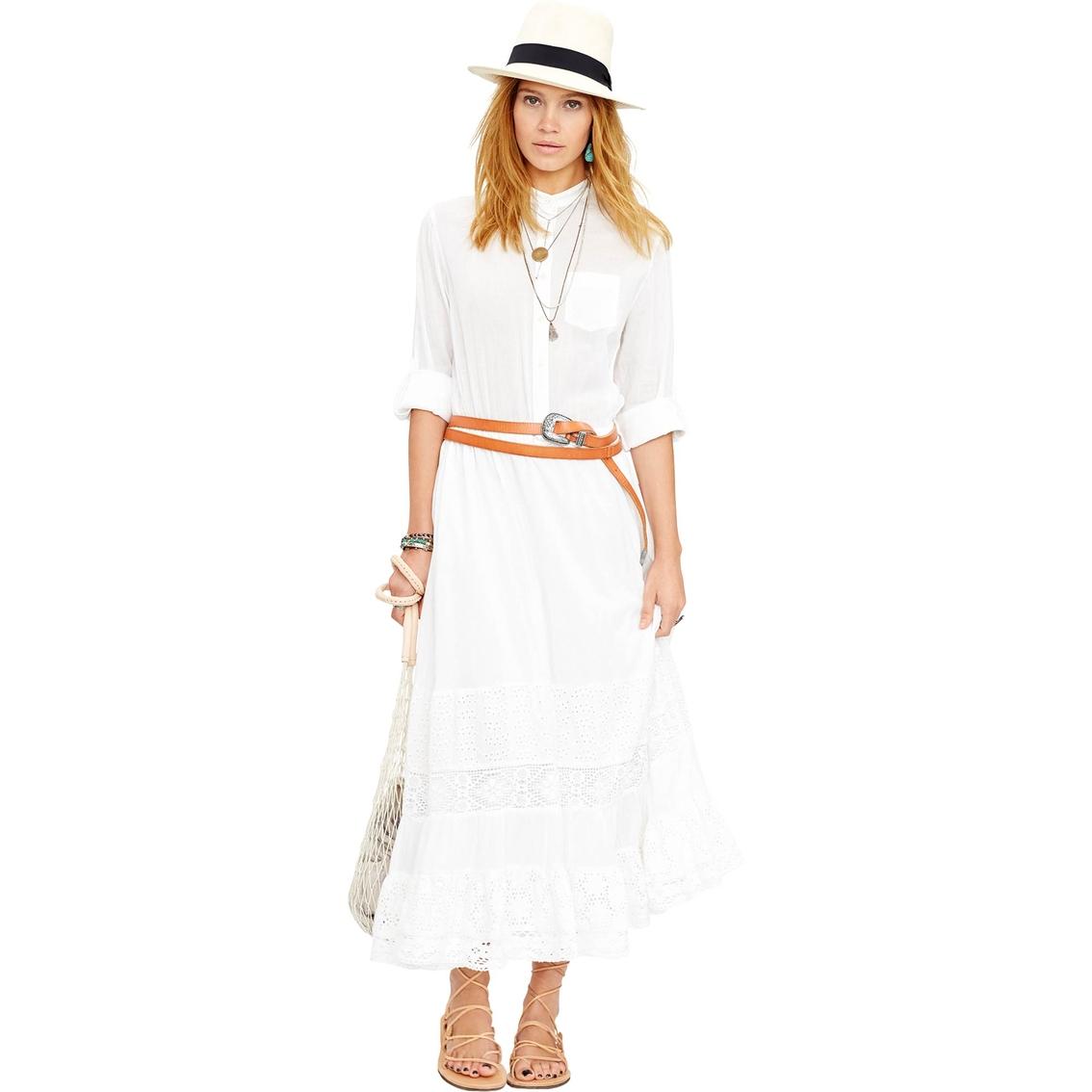 7f6f65b827b Denim   Supply Ralph Lauren Lace Inset Cotton Voile Maxi Dress ...