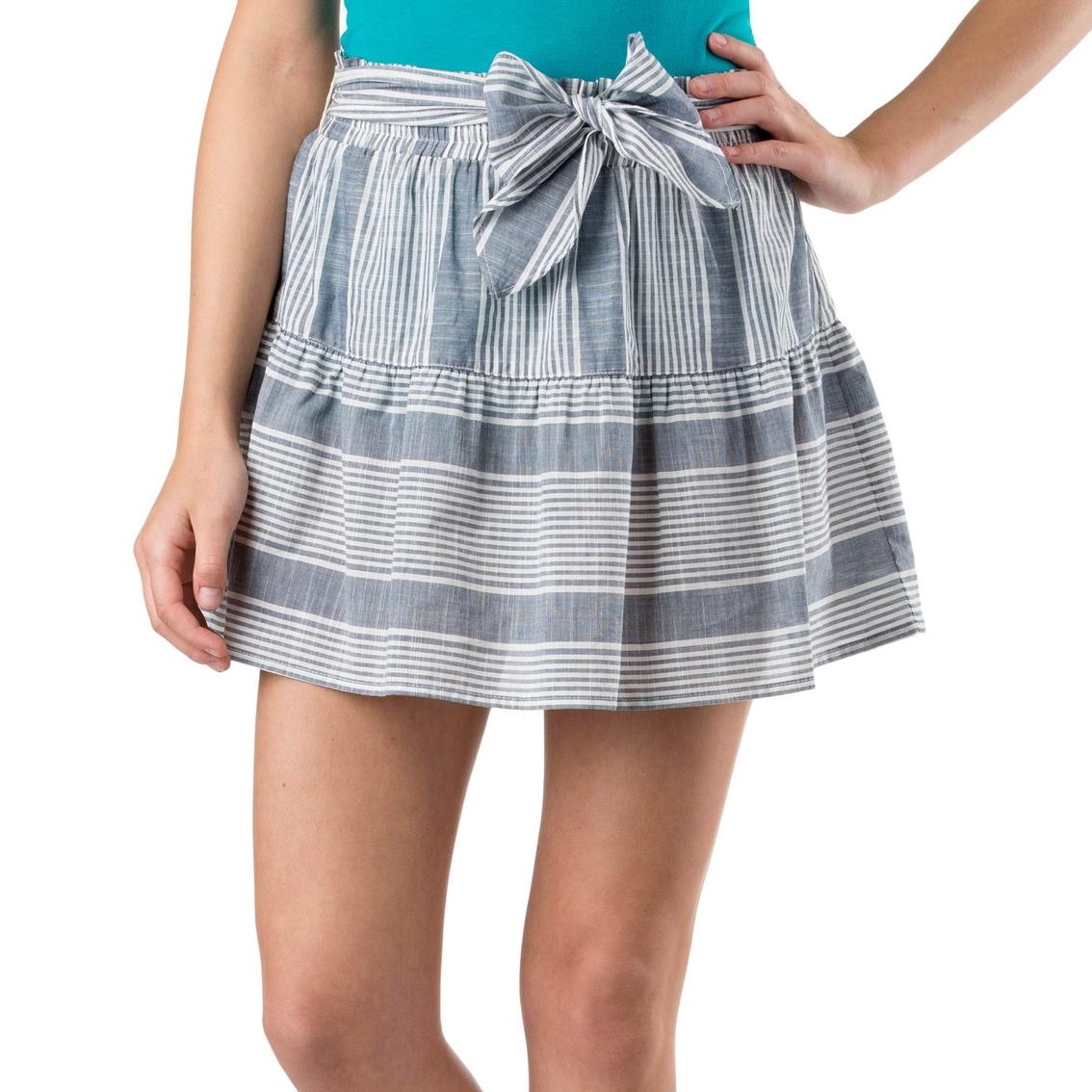 1fd4546f54a9 Joe B Juniors Chambray Stripe Skater Skirt | Juniors' Apparel | Shop ...