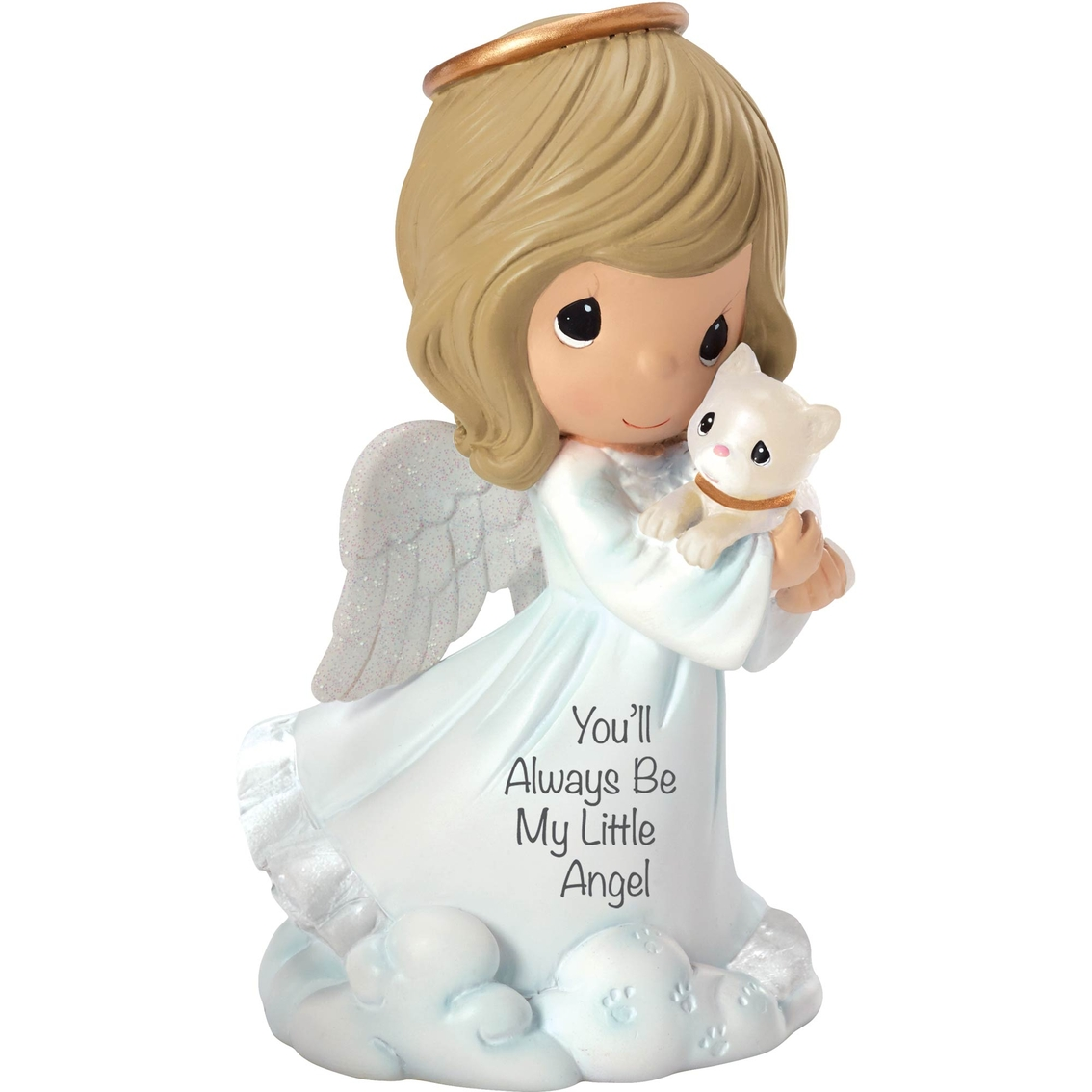 Precious Moments Angel Holding Cat Collectible Figurines