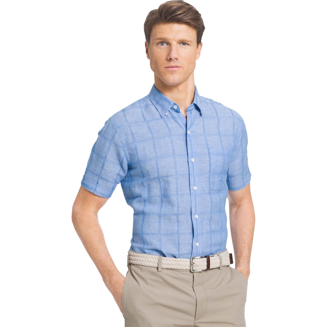 Izod sportswear saltwater texture button down shirt for Izod button down shirts