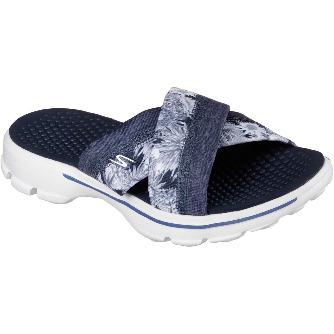 Skechers Women S Go Walk Fuji Sandals Flats Shoes