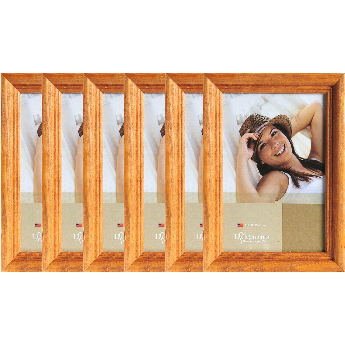 Life Moments Natural Wood Frame 6 Pc Set Frames Home
