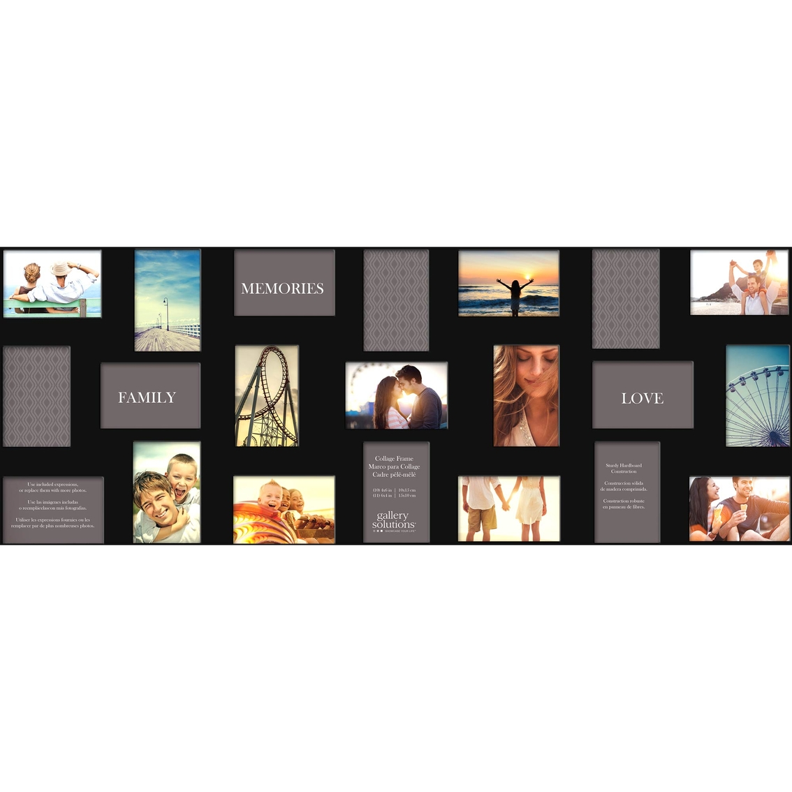 Gallery Solutions 21 Opening Black Collage Frame | Frames | Home ...