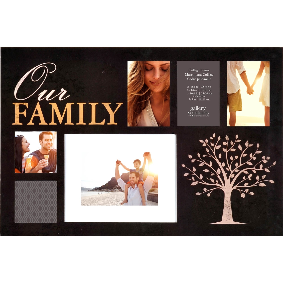 Gallery Solutions 24 X 16 Family 6 Opening Collage Frame Frames