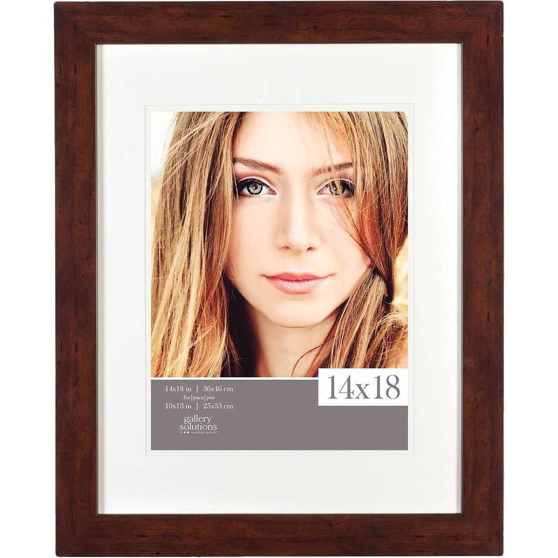 Gallery Solutions 14 X 18 Flat Walnut Frame Matted To 11 X 14