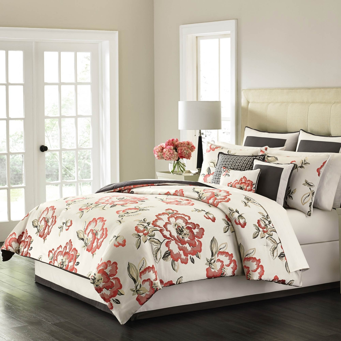 martha stewart collection peony blossom 9 piece bedding set bedding collections home. Black Bedroom Furniture Sets. Home Design Ideas