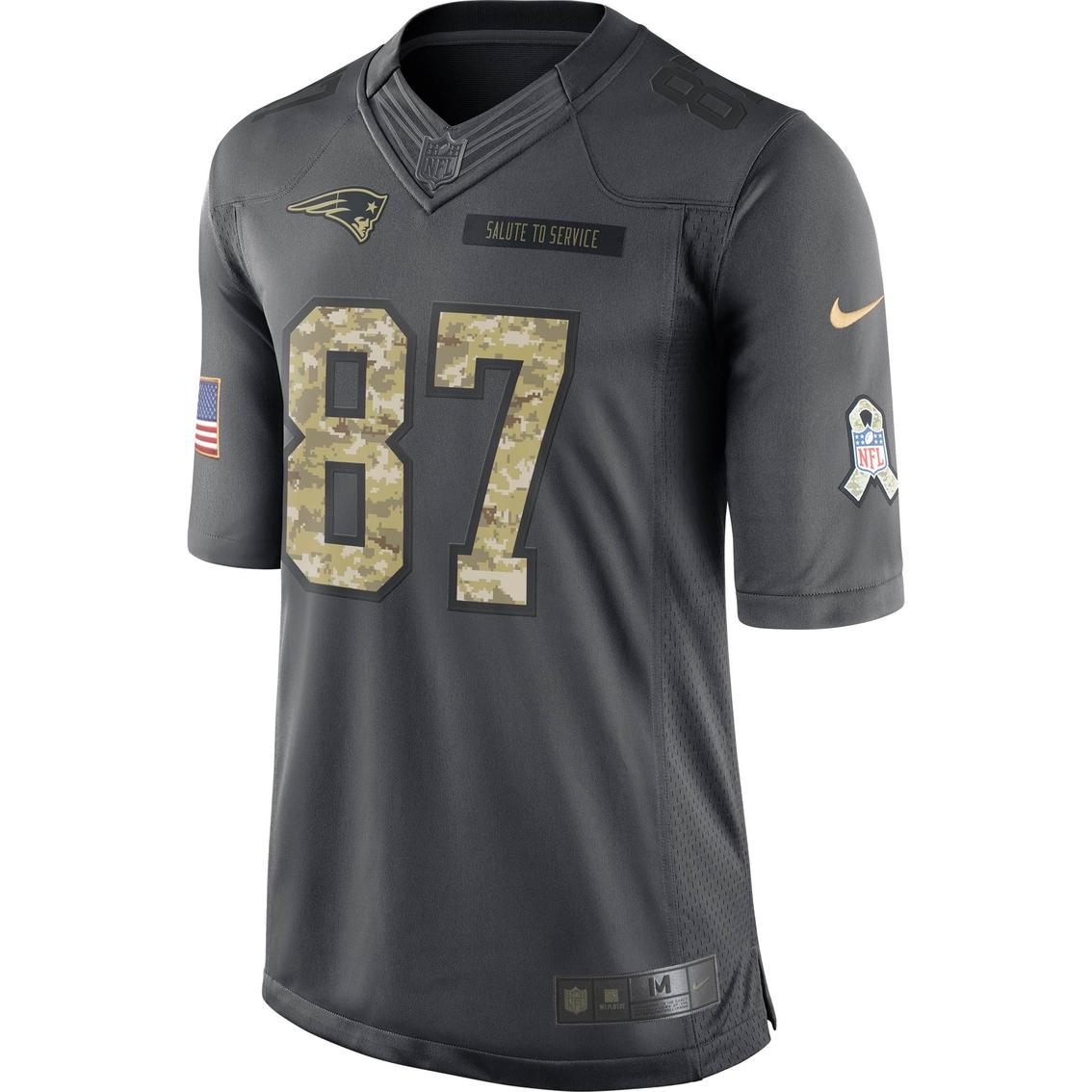 Nike Nfl New England Patriots Men's Gronkowski Salute To Service ...