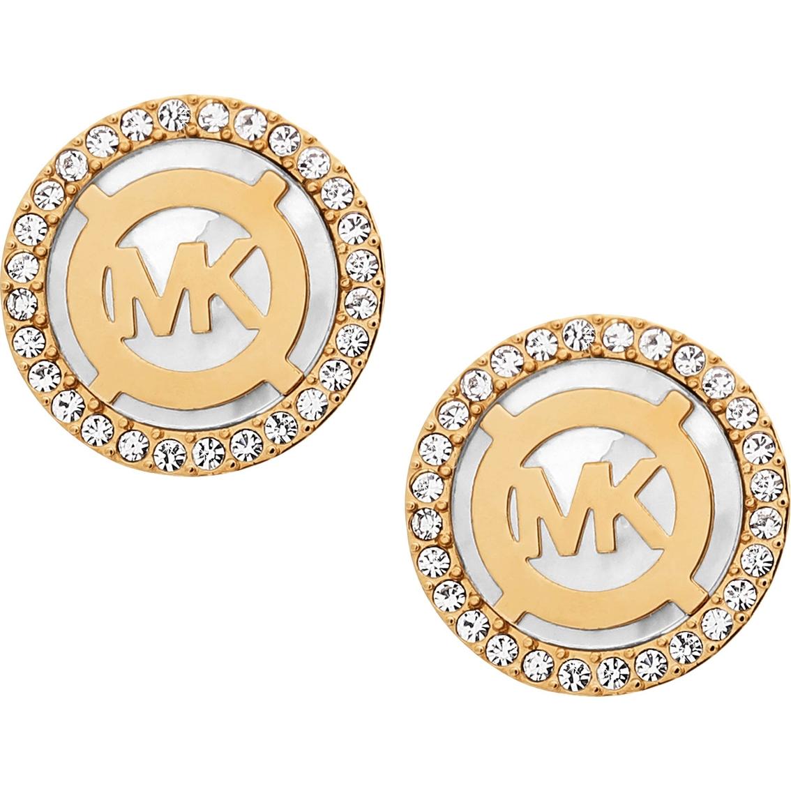 99739525d Michael Kors Mk Monogram Stud Earrings With Mother Of Pearl ...