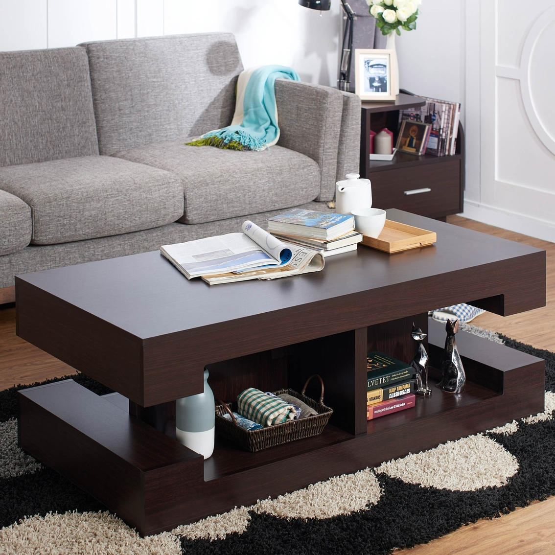 Furniture of america antella coffee table living room for Hometown furniture exchange