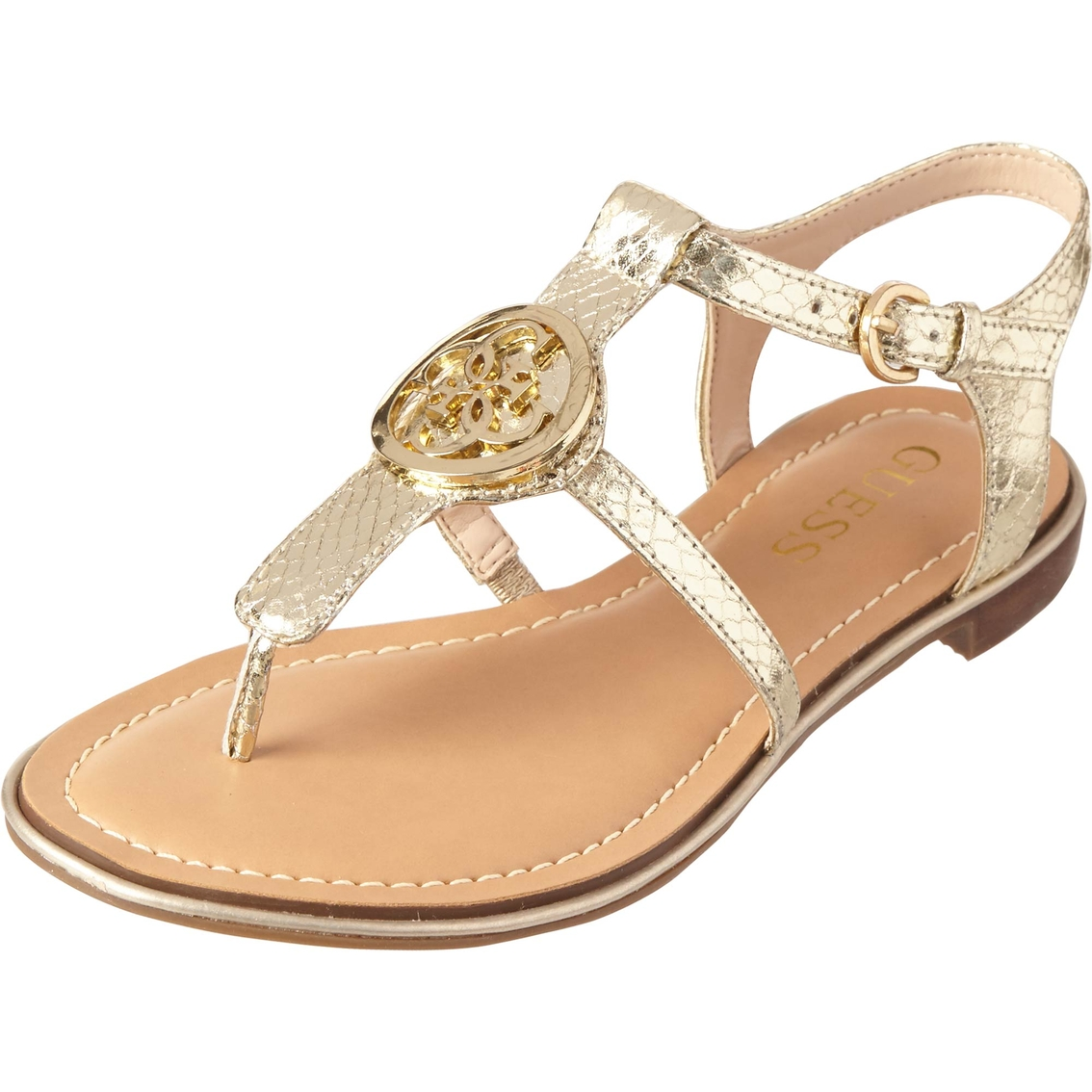2ff533f078a Guess Roxxie Flat Medallion Sandals