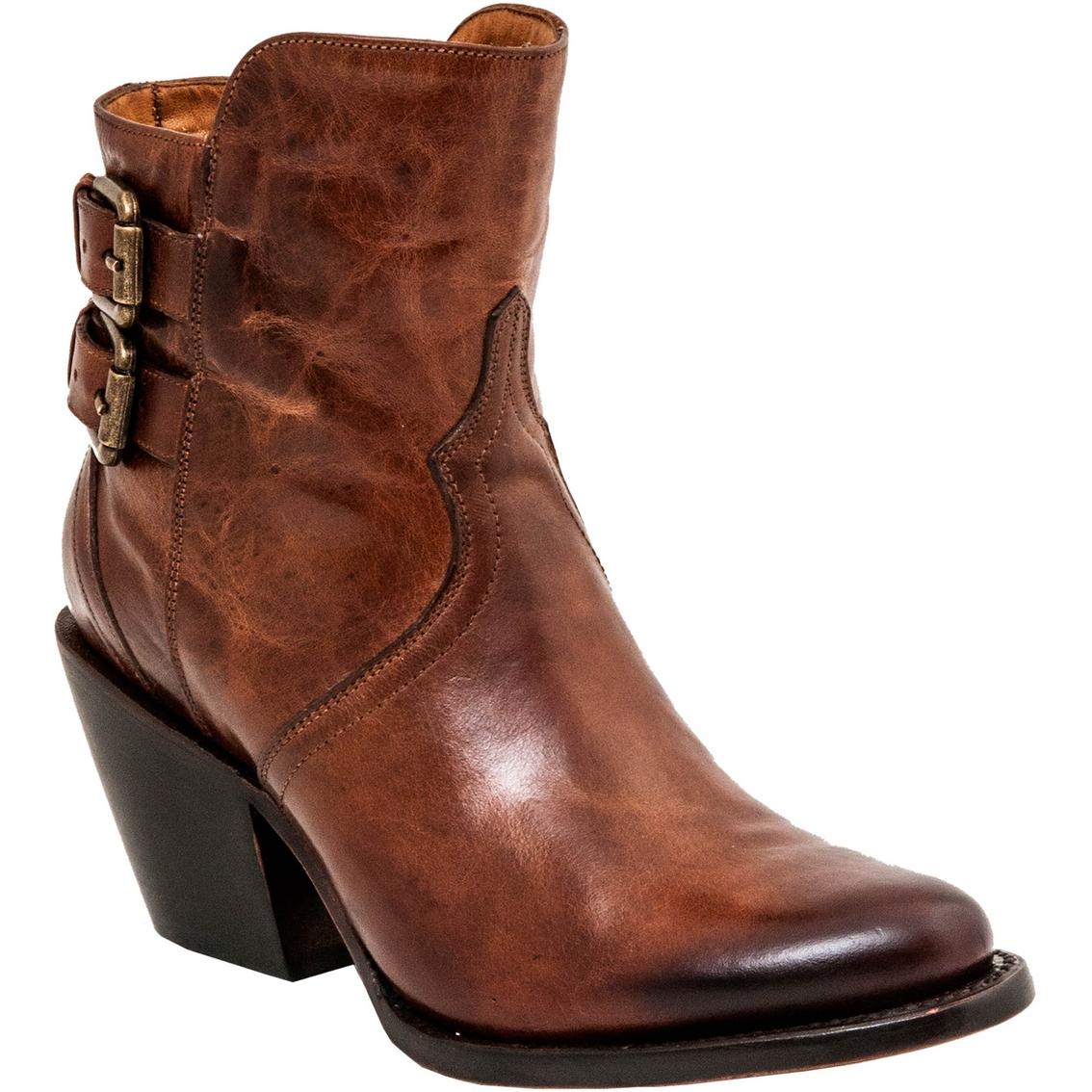 Model Lucchese Womenu0026#39;s Coffee Lunar Calf Savina Ankle Short Cowboy Boot
