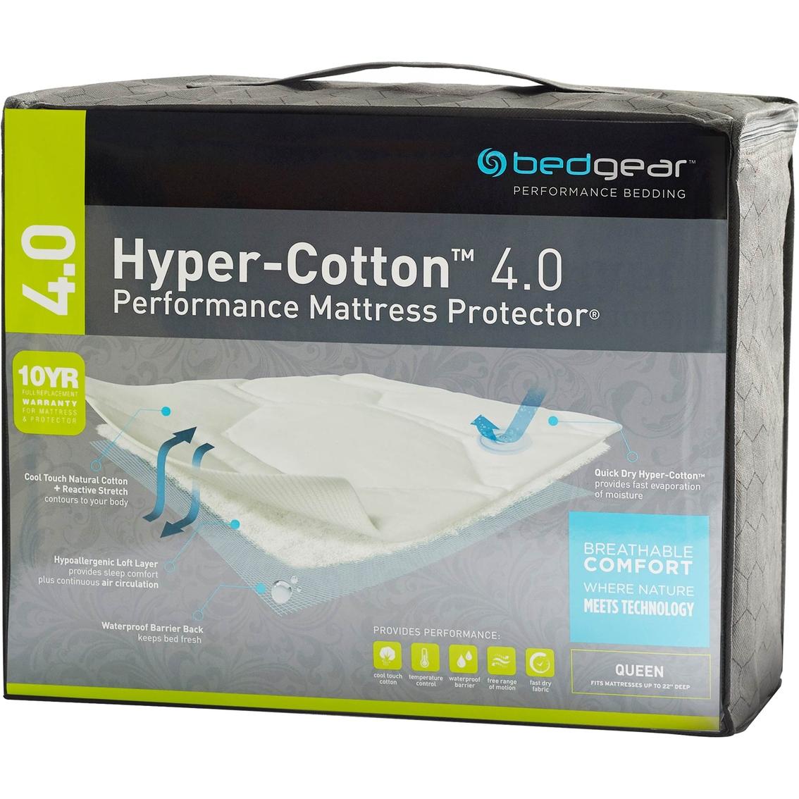 Bedgear 4.0 Hyper-cotton Quick-dry Performance Mattress ...