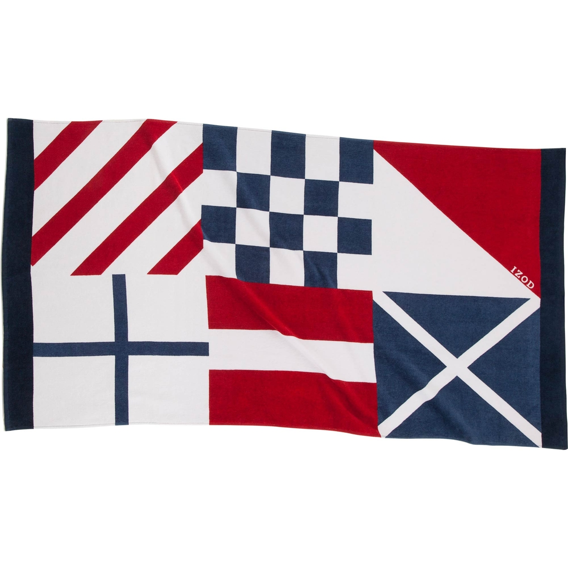 Nautical Flags Bath Towels: Izod Nautical Flags Beach Towel