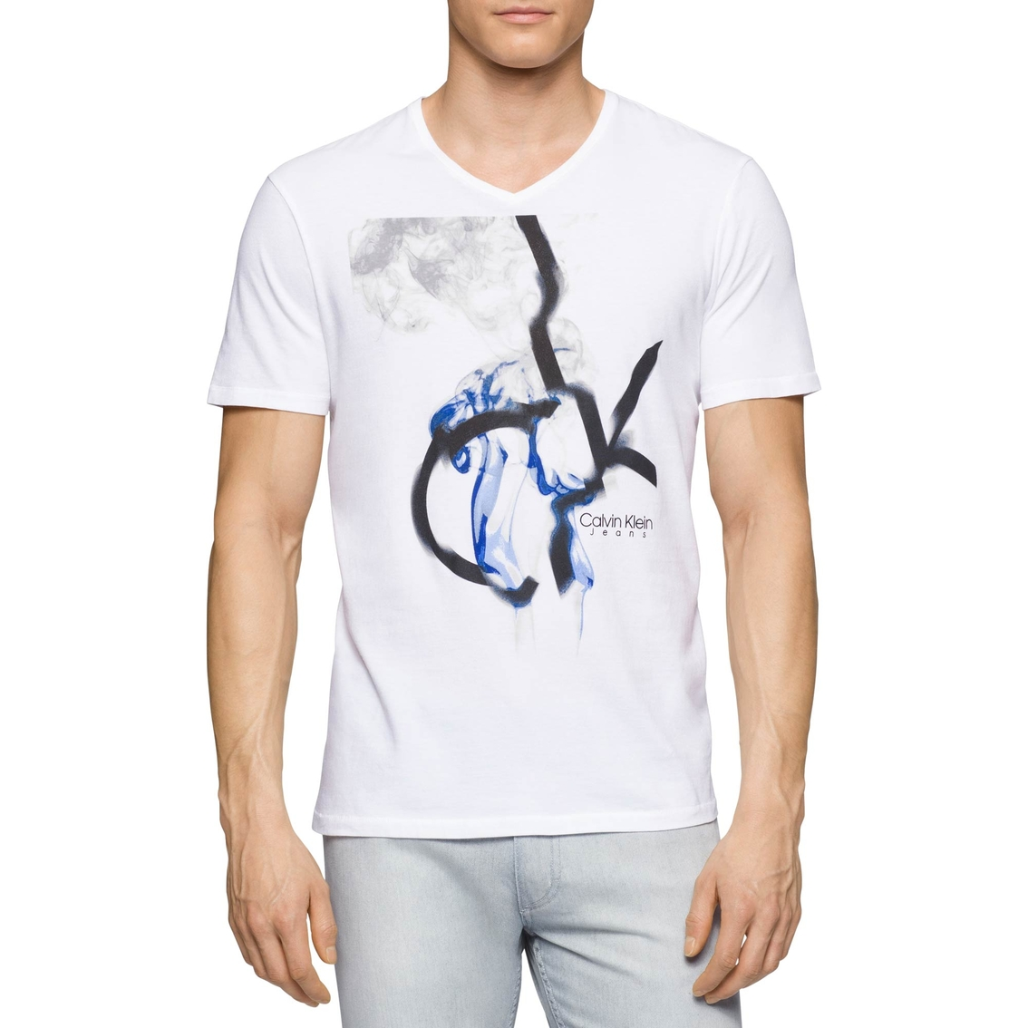 ufficiale migliori offerte su salvare Calvin Klein Jeans Smoking Ck V Neck Tee | T-shirts | Clothing ...