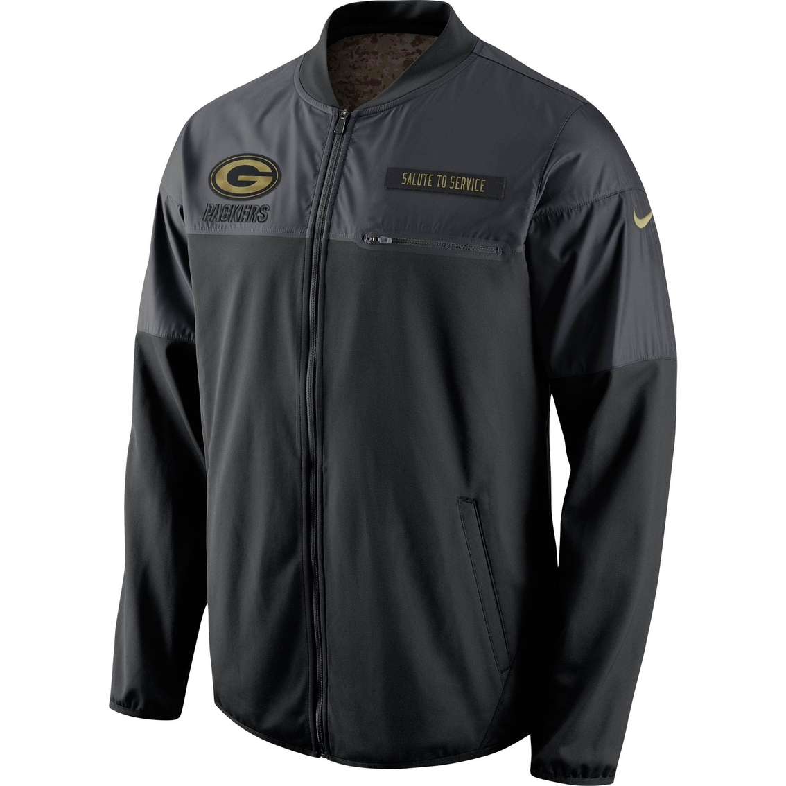 new arrival 29cd4 4c27c Nike Nfl Green Bay Packers Salute To Service Jacket ...