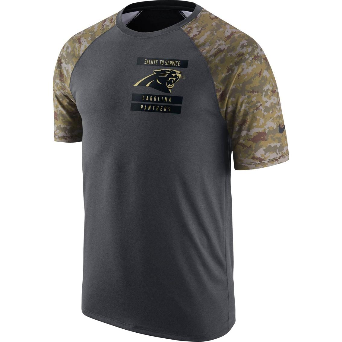 reputable site 213db a1c7d Nike Nfl Carolina Panthers Men's Salute To Service Tee ...