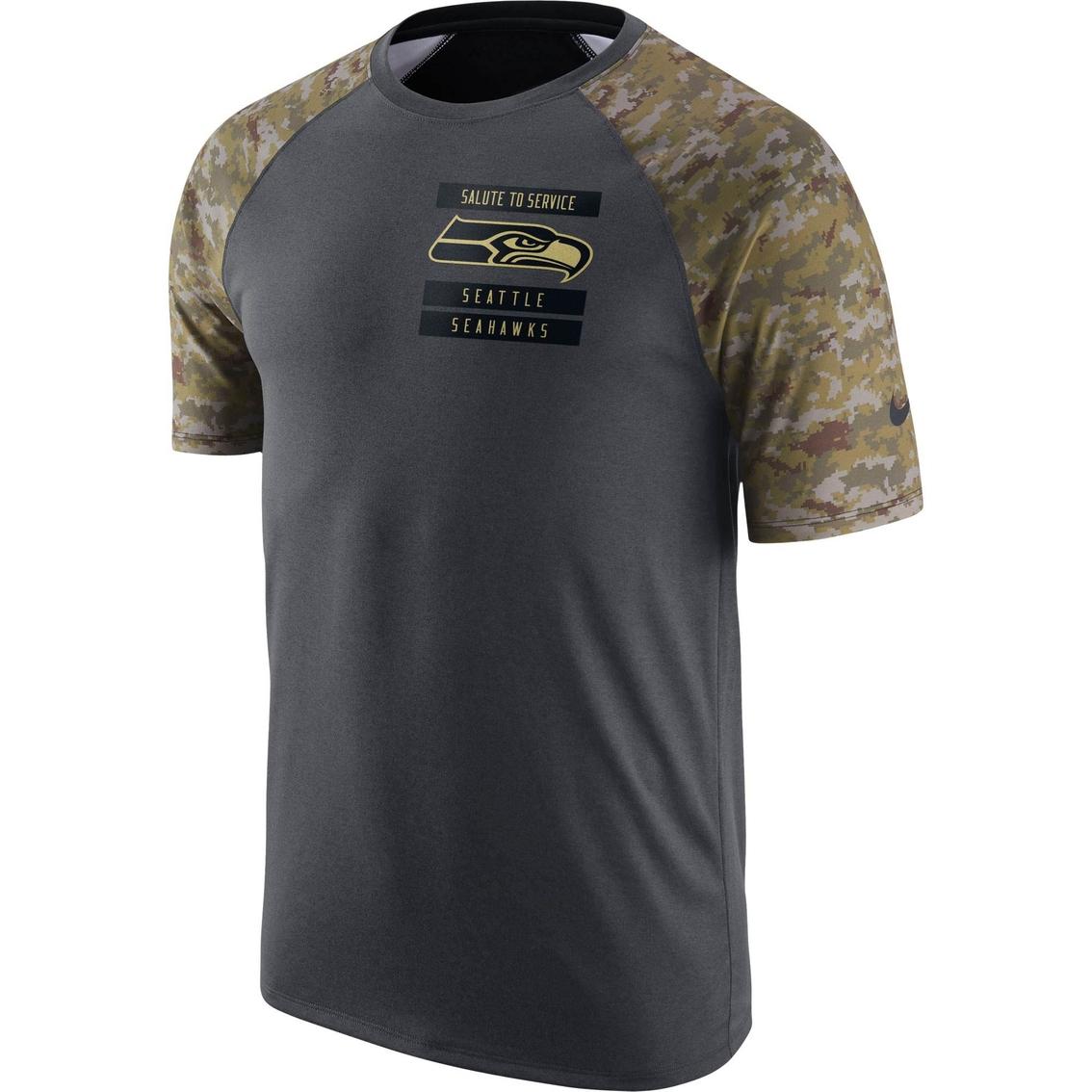 big sale 56c96 74fd8 Nike Nfl Seattle Seahawks Salute To Service Tee | Hoodies ...