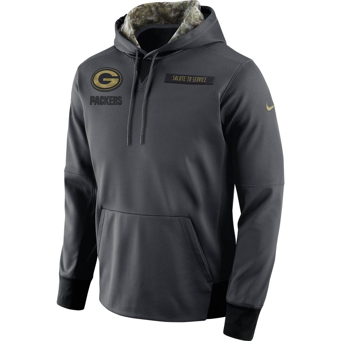 new concept a8bfc e2e26 Nike Nfl Green Bay Packers Salute To Service Hoodie ...