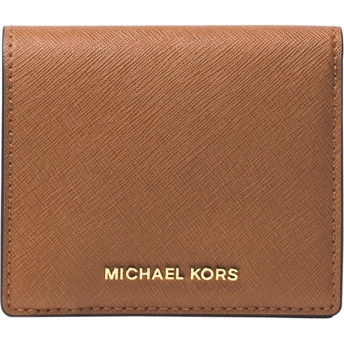 c034e7d675ff Michael Kors Jet Set Travel Leather Carryall Card Case