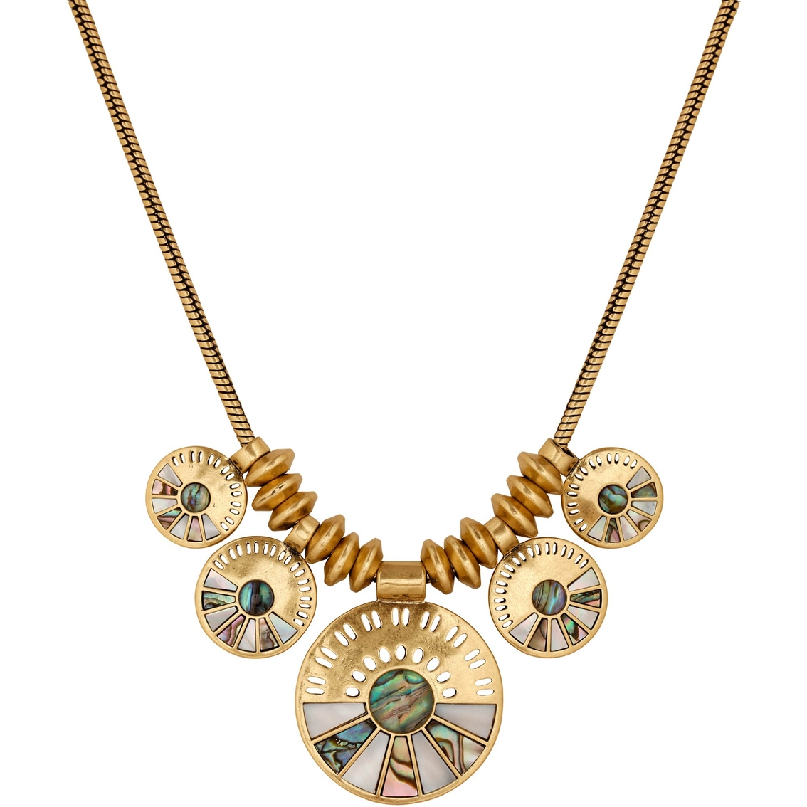 lucky brand lucky layer abalone necklace other necklaces