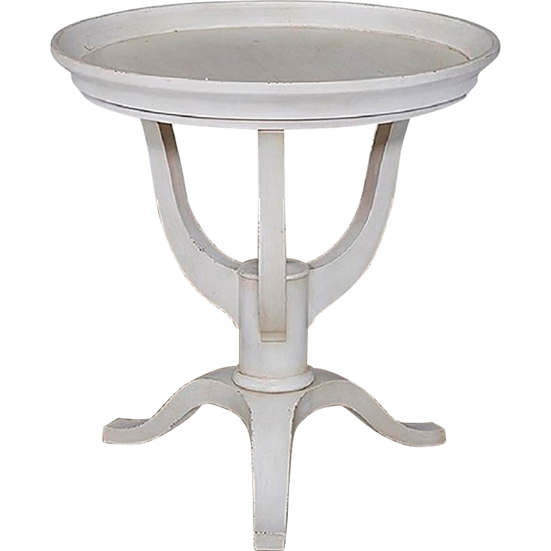 bassett furniture artisanal round lamp table | living room tables