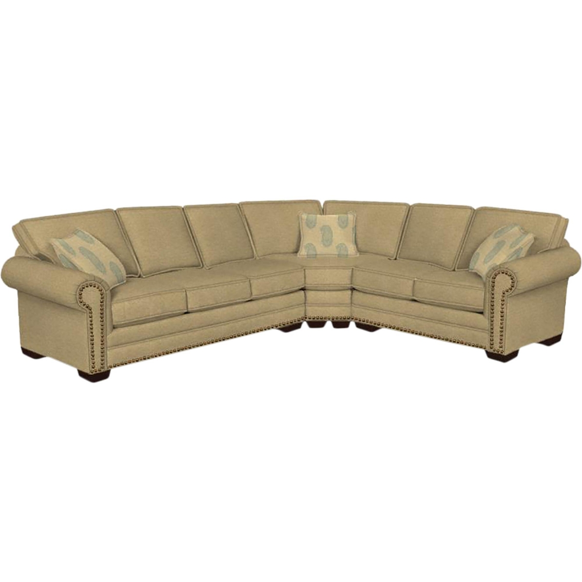 Bassett Hgtv Home Design Studio Large Nailhead L-shaped Sectional ...