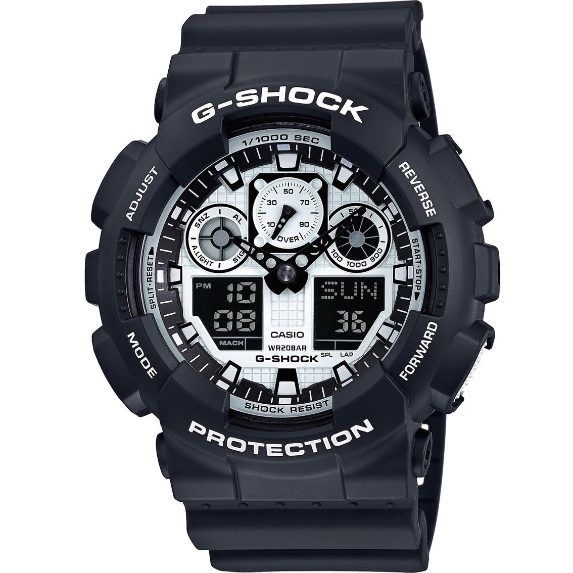 casio s g shock black and white digital