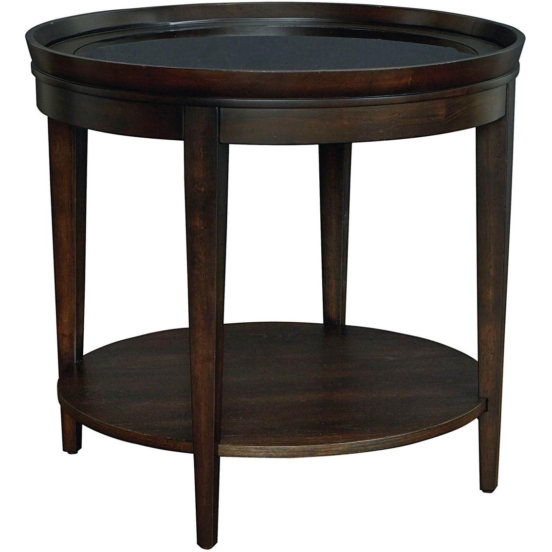 Bassett Tables: Bassett Commonwealth Round Lamp Table