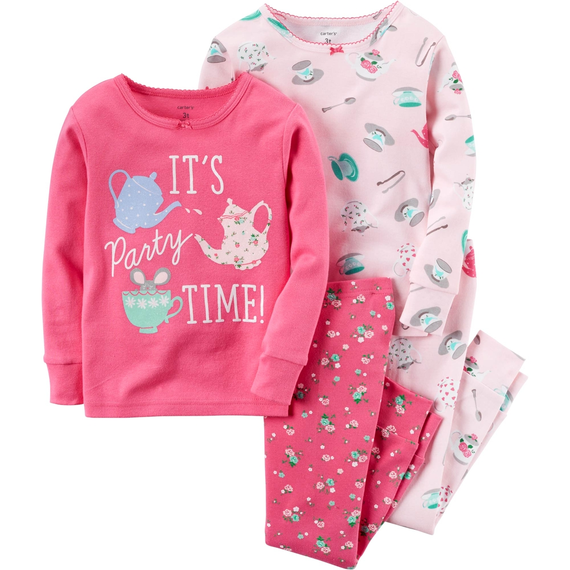 71396ee30 Carter s Toddler Girls 4 Pc. Party Time Snug Fit Cotton Pajamas ...