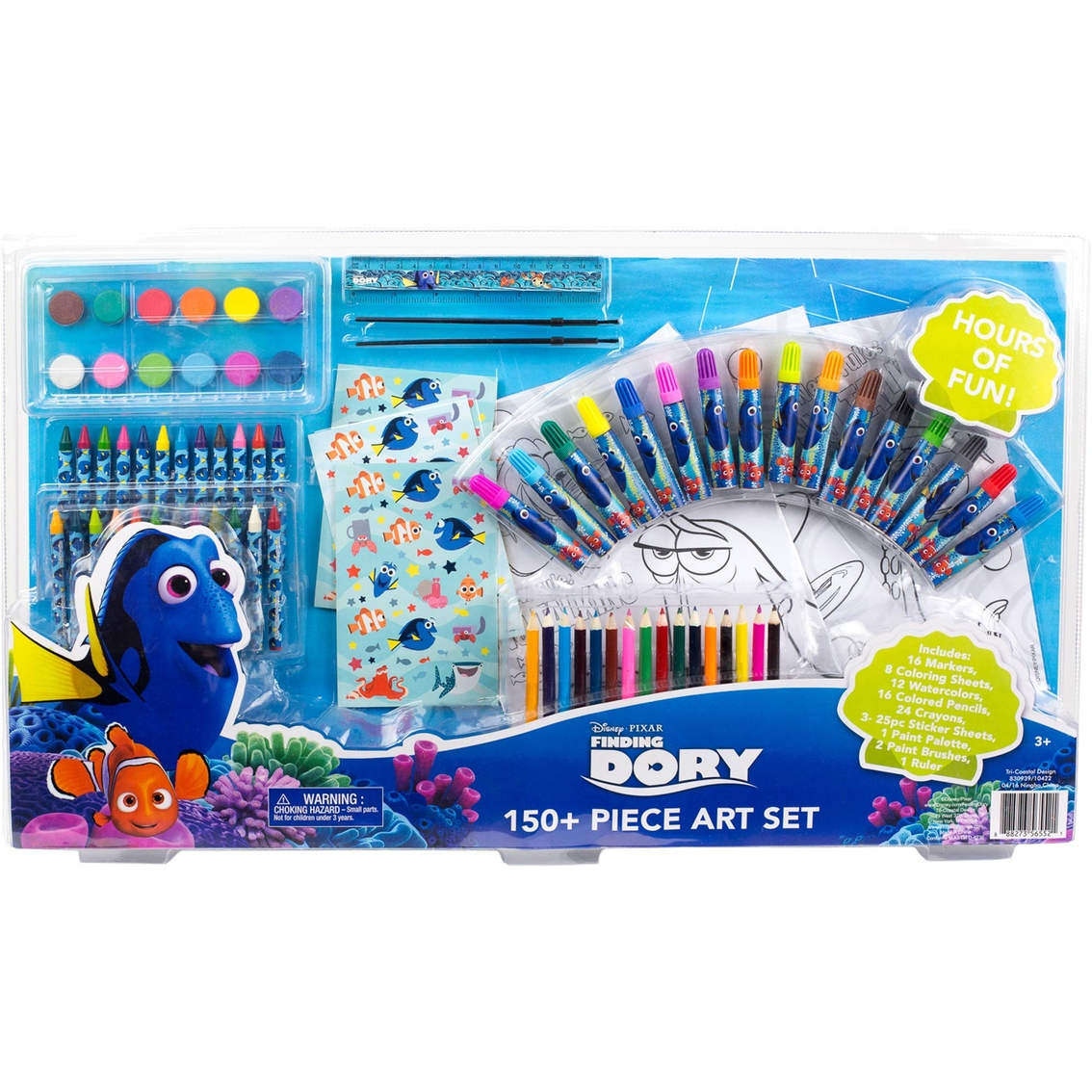 Disney Finding Dory Art Set 150 Pc Drawing Amp Coloring