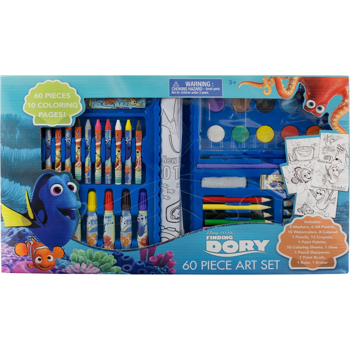 Disney Finding Dory Art Set, 60 Pc. | Drawing & Coloring | Baby ...
