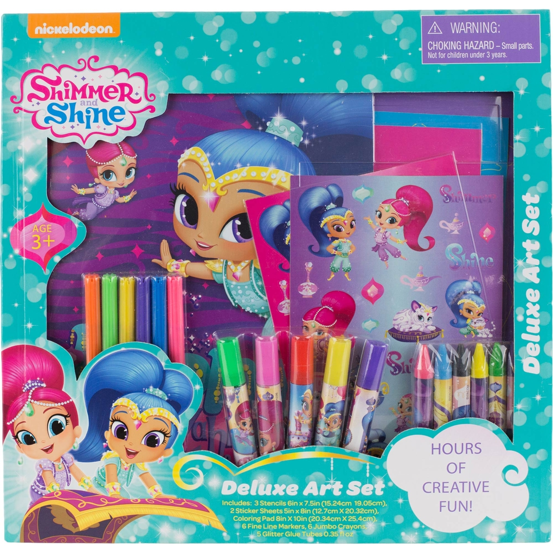 Nickelodeon Shimmer And Shine Deluxe Art Set | Drawing & Coloring ...