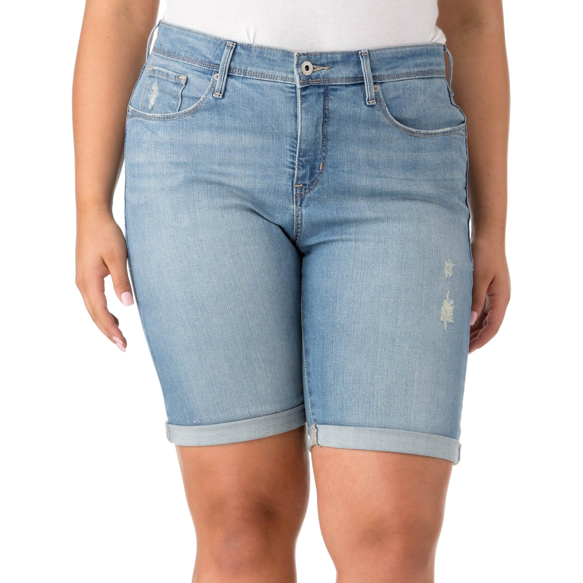 807647de Levi's Plus Size 512 Perfectly Shaping Bermuda Shorts | Shorts ...