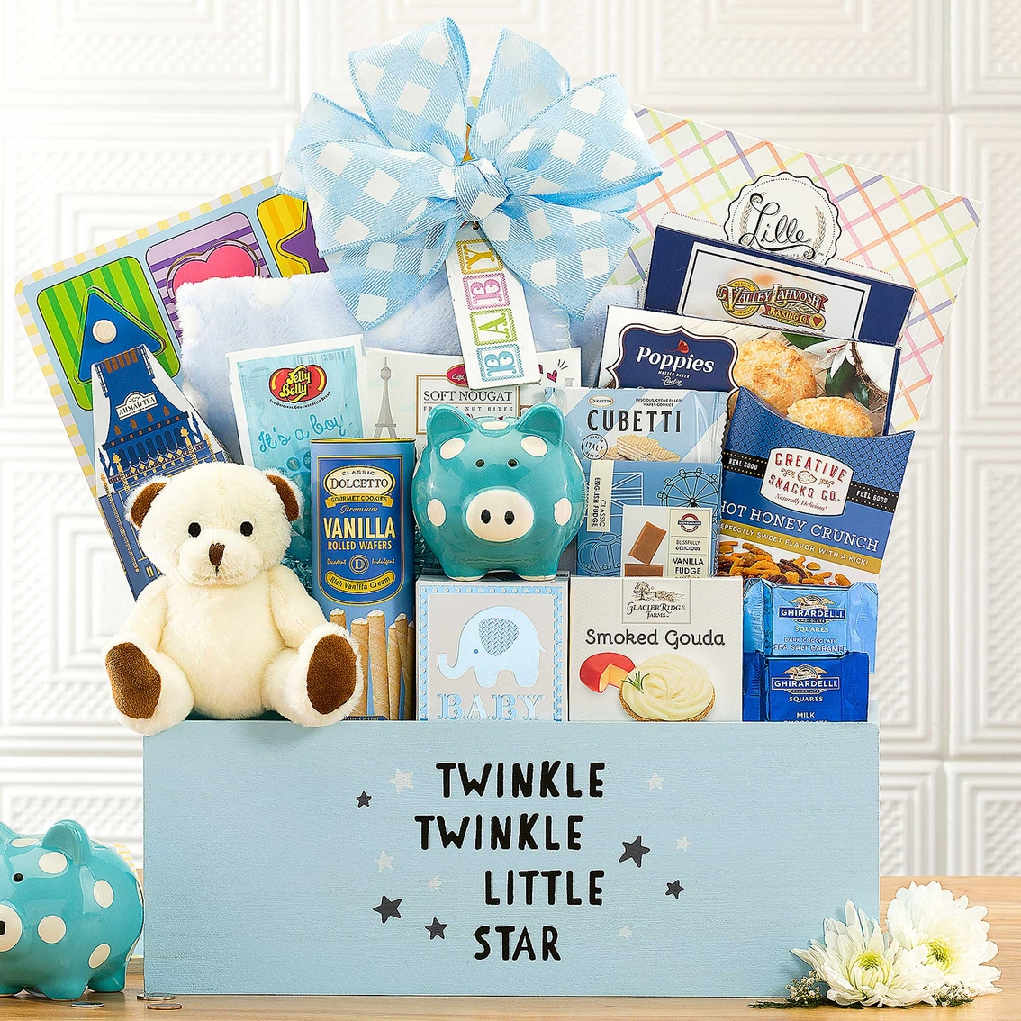 New Baby Gift Basket Usa : Wine country gift baskets welcome home baby boy gourmet