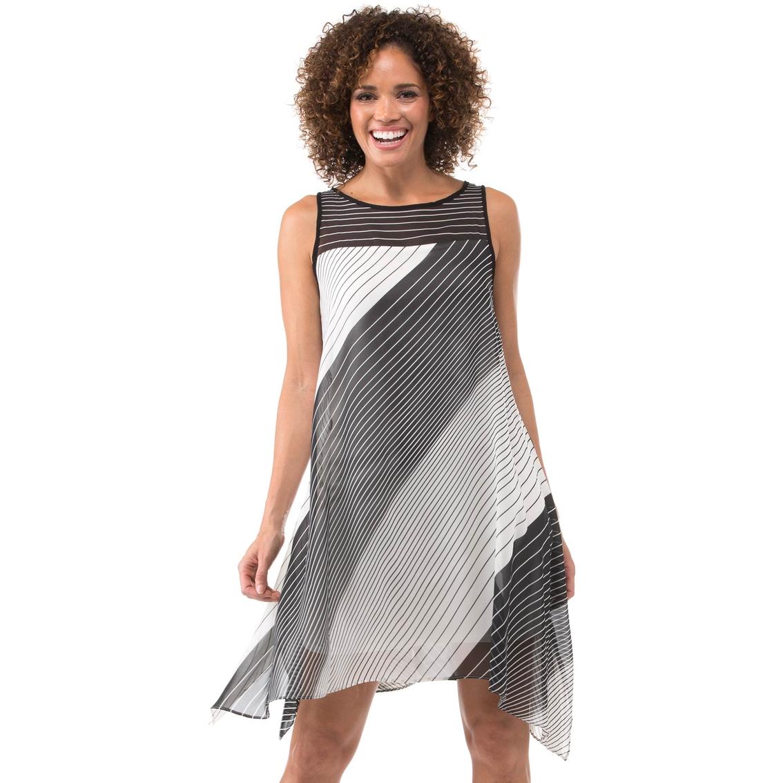 0a8b171d842c Robbie Bee Diagonal Striped Colorblock Chiffon Dress | Dresses ...