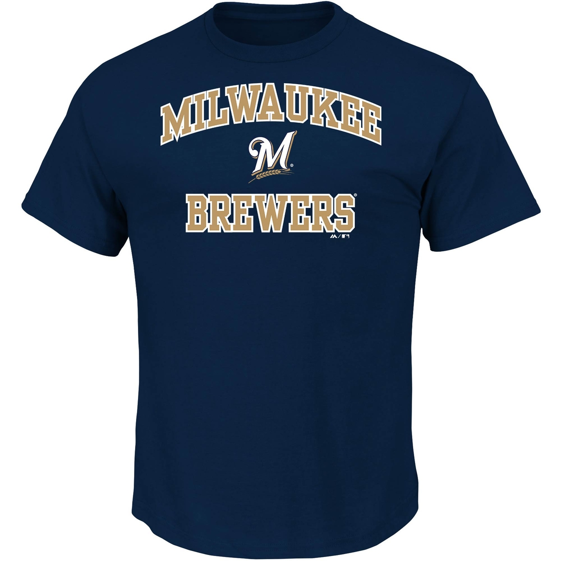 outlet store a13b2 7949d Majestic Mlb Milwaukee Brewers Men's Heart And Soul Tee ...