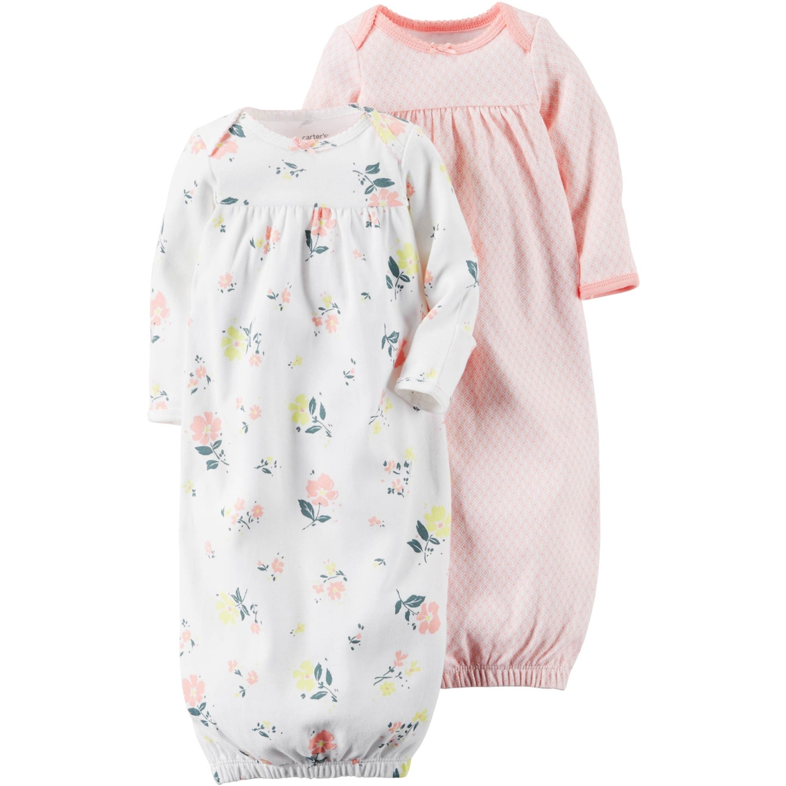 Carter\'s Preemie Girls Sleeper Gowns 2 Pk. | Baby Girl 0-24 Months ...