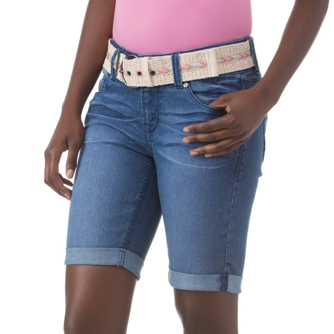 a4f483b82d Wallflower Juniors Mickey Color Pop Belted Bermuda Shorts | Juniors ...