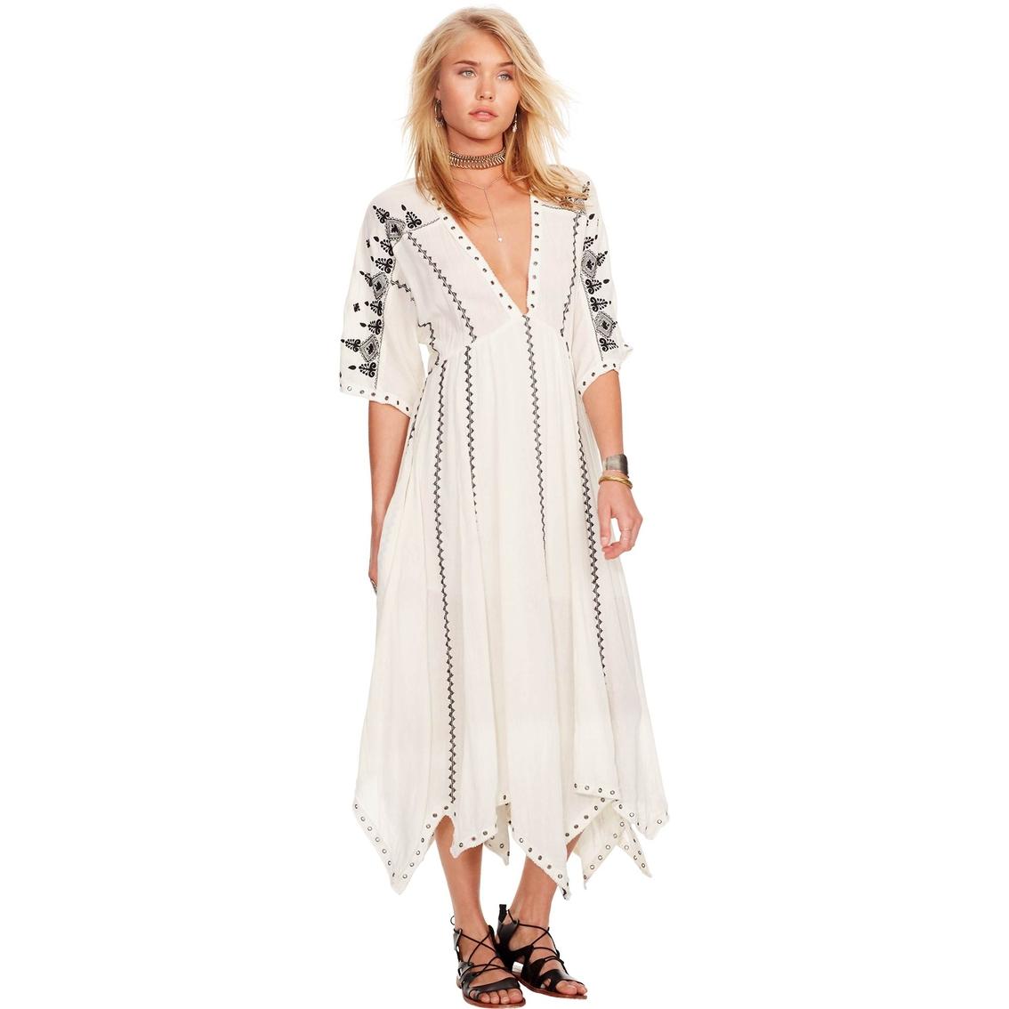Denim & Supply Ralph Lauren Victoire Grommet Trim Gauze Dress