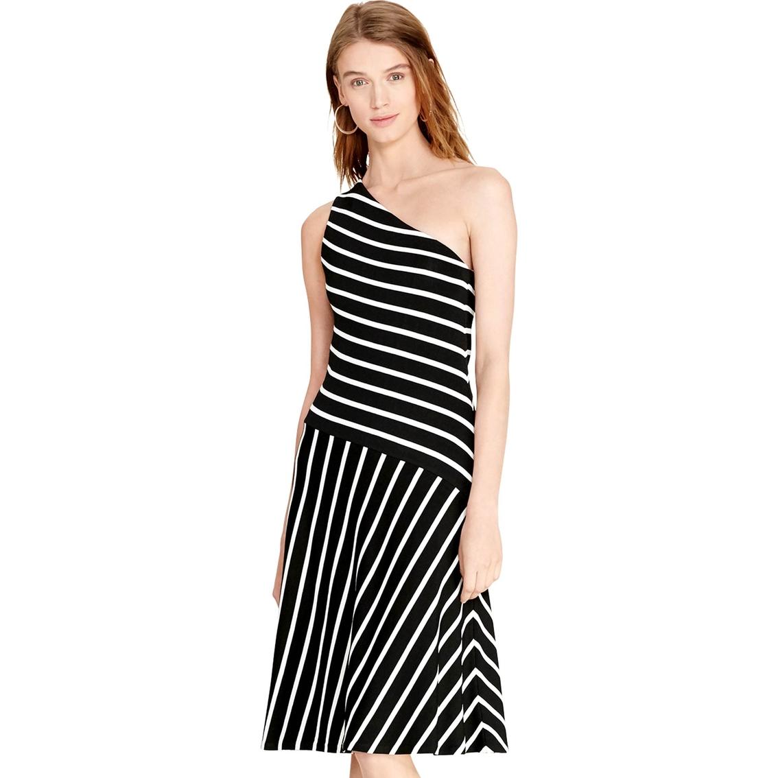 Lauren Ralph Lauren Rosita Striped One Shoulder Dress