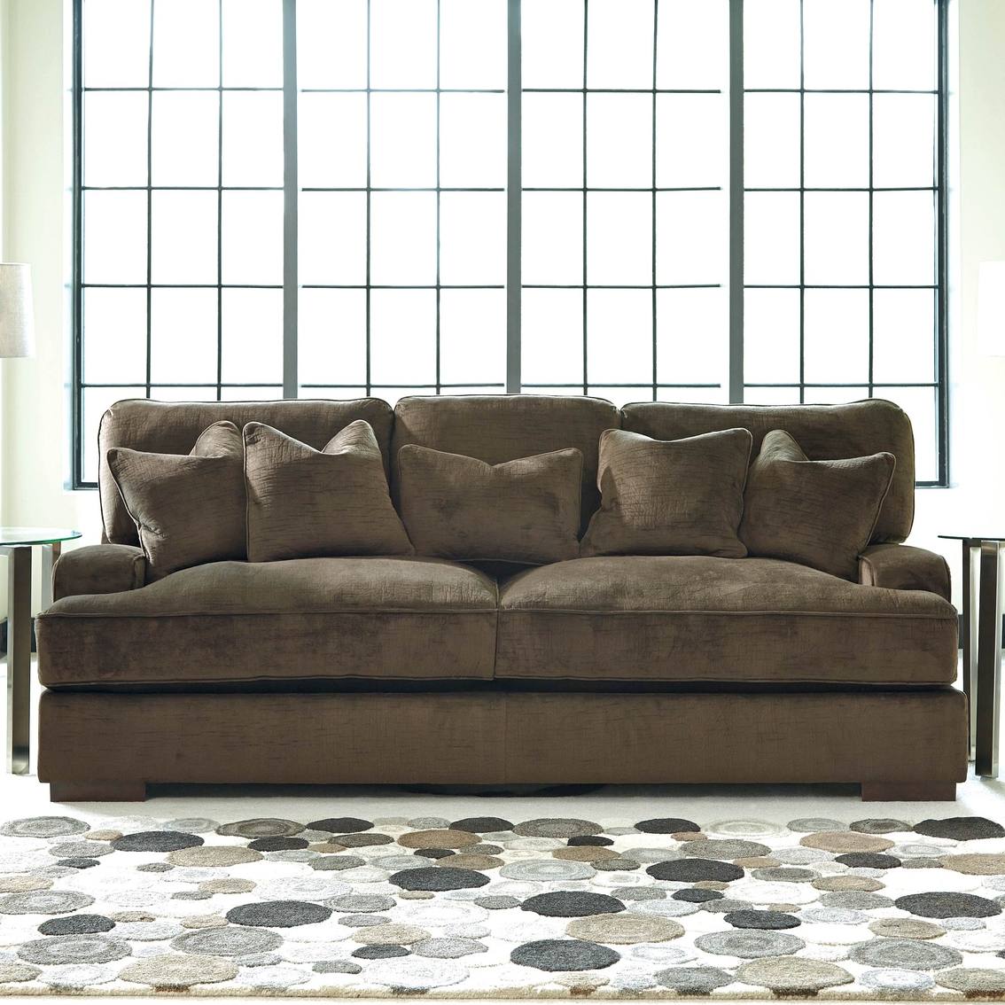 Bench craft sofa danely dusk polyester sofa chaise for Berkline reclining chaise