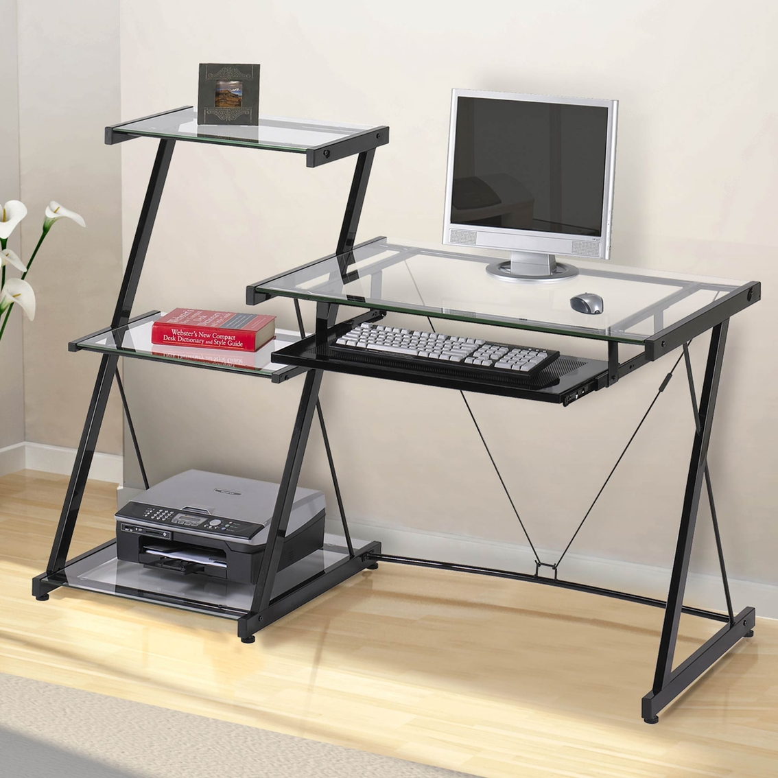 Z Line Designs Nero Desk And Bookcase