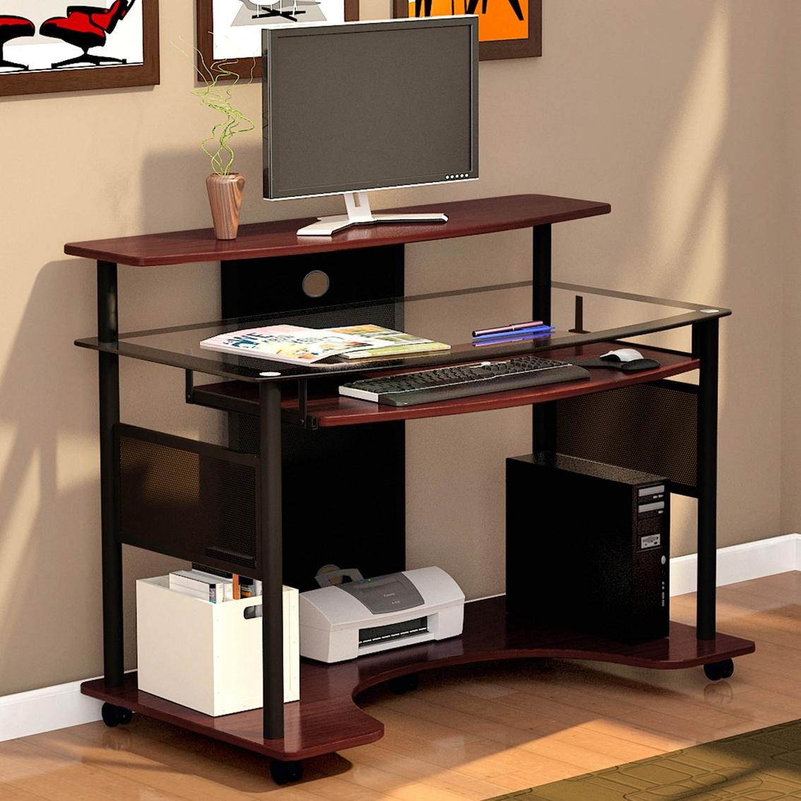 line inc computer ideas desk design z designs shaped belaire glass trends l trendy exclusive great