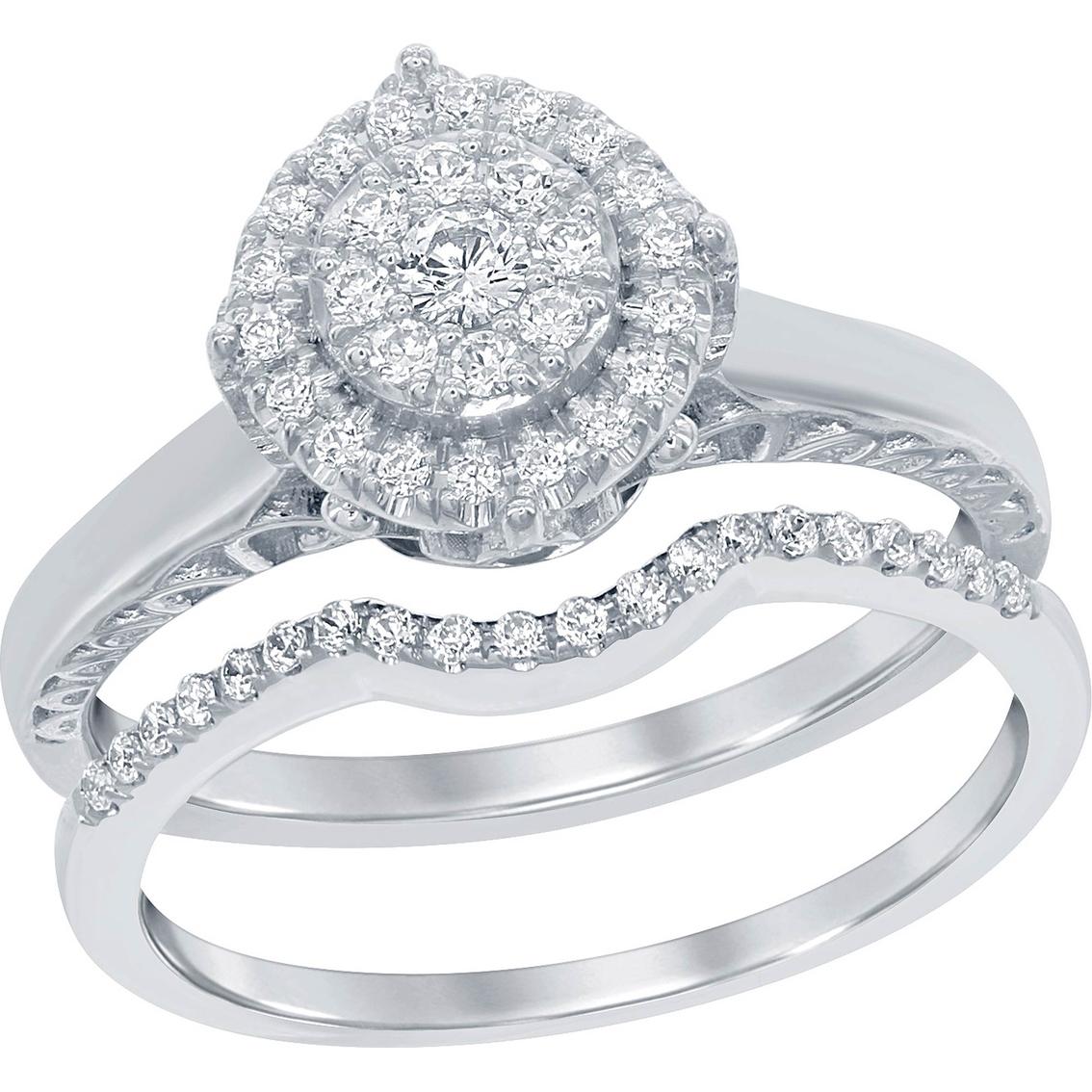Disney Enchanted 14k White Gold 13 Ctw Diamond And Amethyst Ariel