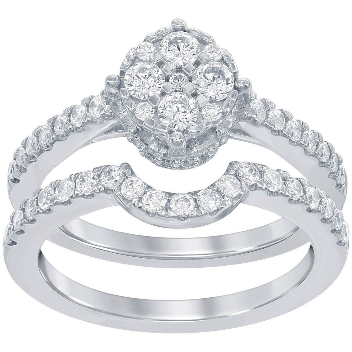 Disney Enchanted 14K White Gold 3 4 CTW Diamond Belle Bridal Set